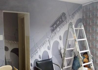Impressão digital adesivos papel de parede