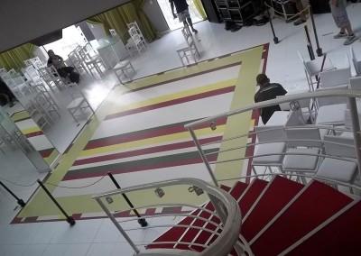 Impressão digital adesivo para piso