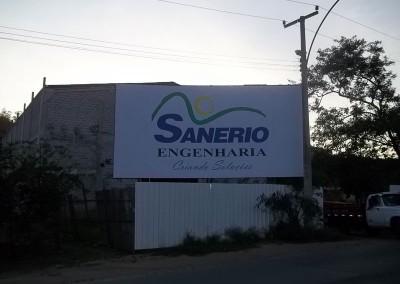 Placa sinalização de obra